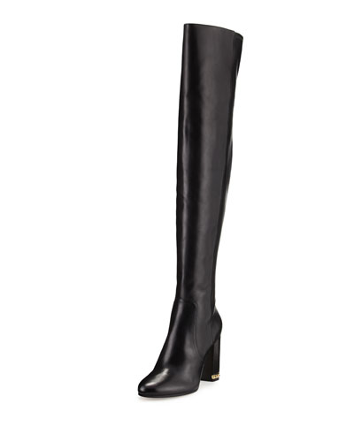 e655923f61 MICHAEL Michael Kors Sabrina Leather 100mm Knee Boot, Black