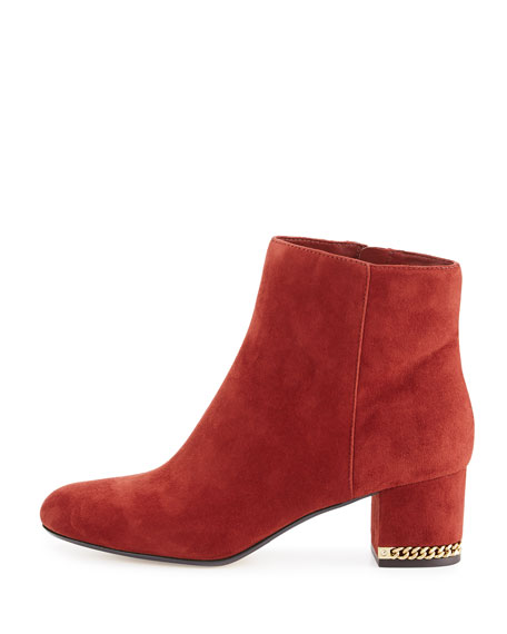 Sabrina Suede Ankle Boot, Brick