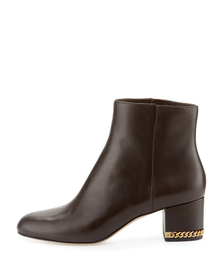 MICHAEL Michael Kors Sabrina Leather Ankle Boot, Coffee