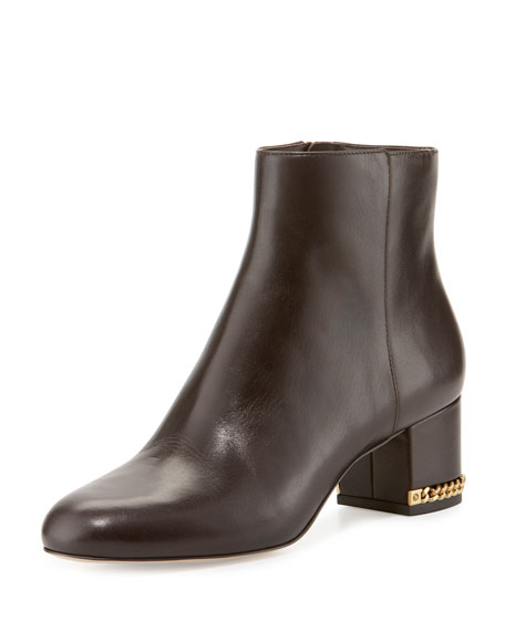 MICHAEL Michael Kors Sabrina Leather Ankle Boot, Coffee