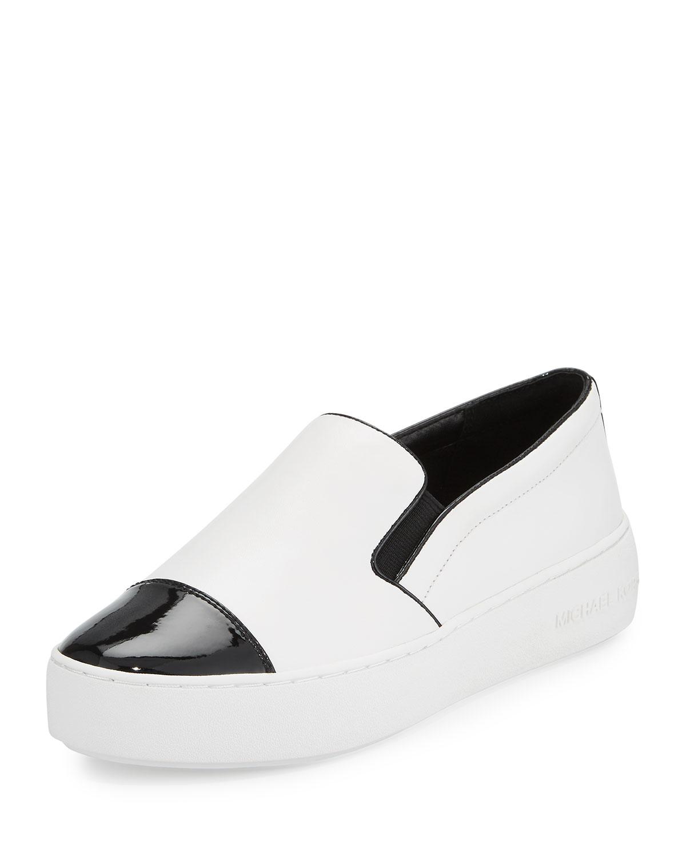 fcbd6fb8e7e MICHAEL Michael Kors Tia Cap-Toe Leather Slip-On Sneaker