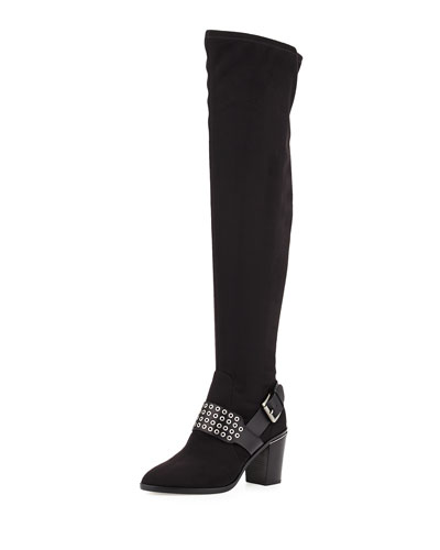 Brody Grommet Over-the-Knee Boot, Black