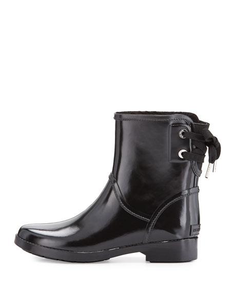 MICHAEL Michael Kors Larson LaceBack Short Rain Boot Black  Neiman Marcus
