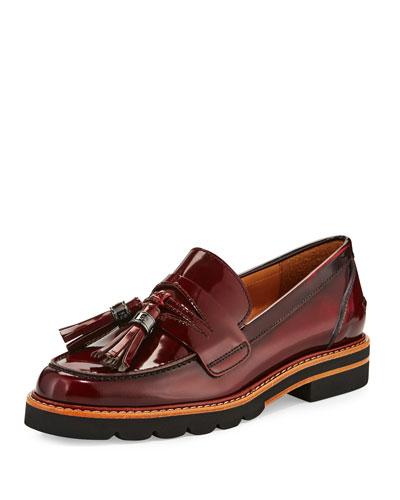 Manila Leather Tassel Loafer, Cordovan