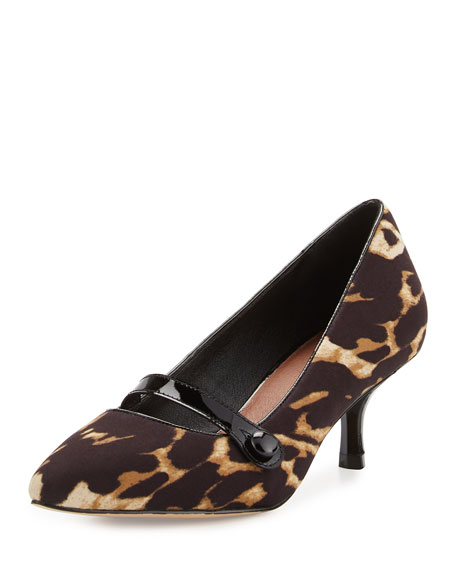 Donald J Pliner Gracey Mid-Heel Mary Jane Pump,