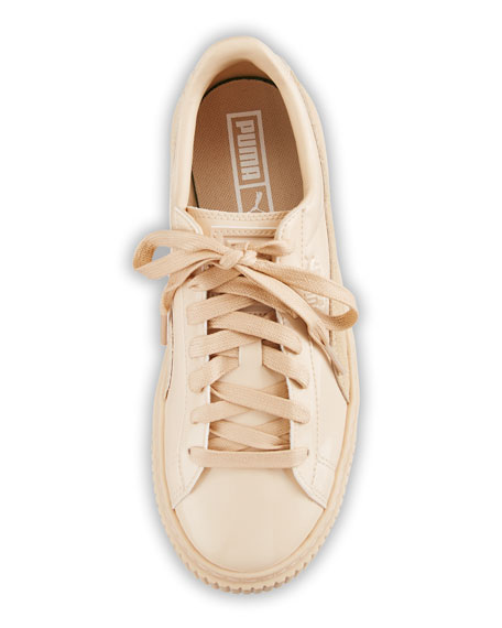 Basket Patent Platform Low-Top Sneaker, Frappe