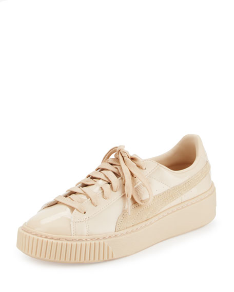 Basket Patent Platform Low-Top Sneaker, Frappe