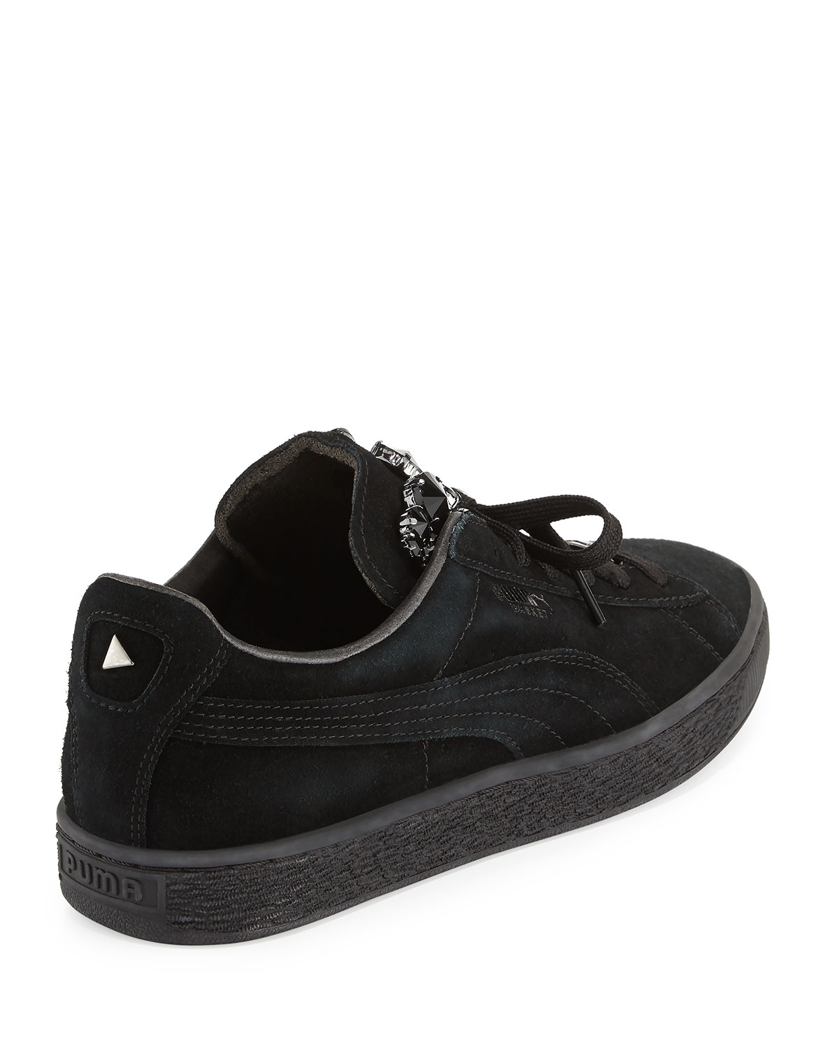 puma basket jeweled lace up sneakers
