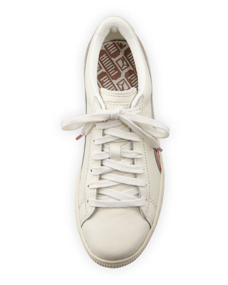 Basket Classic Metallic Low-Top Sneaker, Whisper White/Copper