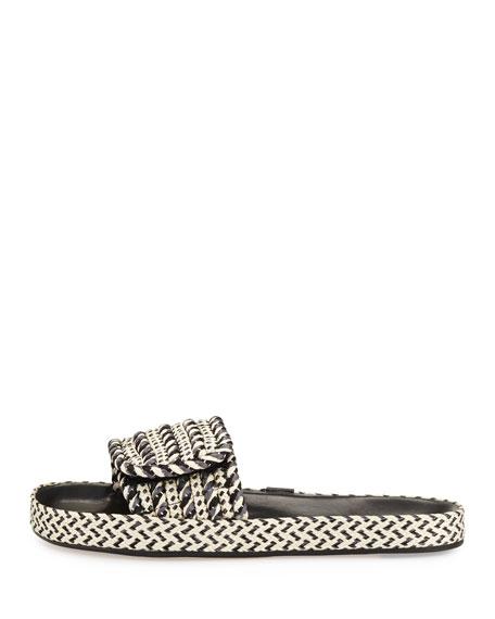 Enki Flat Rope Slide Sandal, Gray