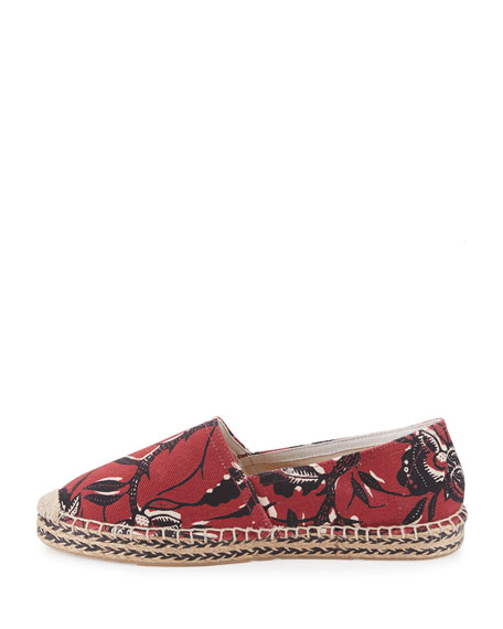 Image 2 of 4: Canaee Printed Espadrille Flat, Burgundy