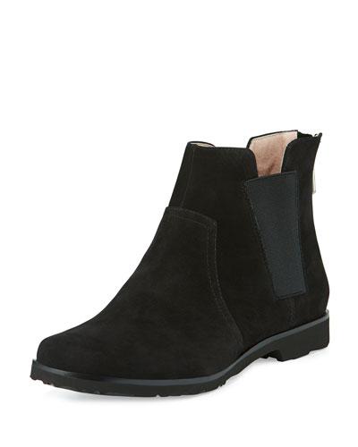 Jervin Nubuck Ankle Boot, Black