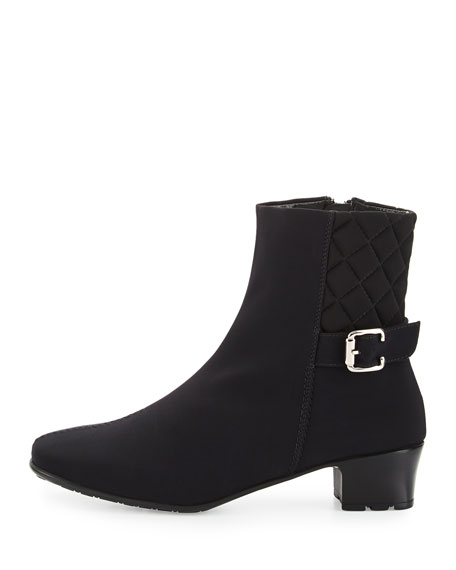 Yannik Weatherproof Quilted Ankle Boot, Black
