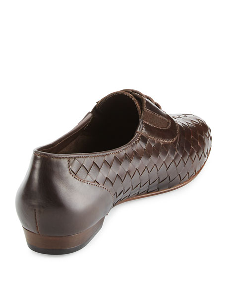 Nadir Woven Leather Oxford, Moro Brown