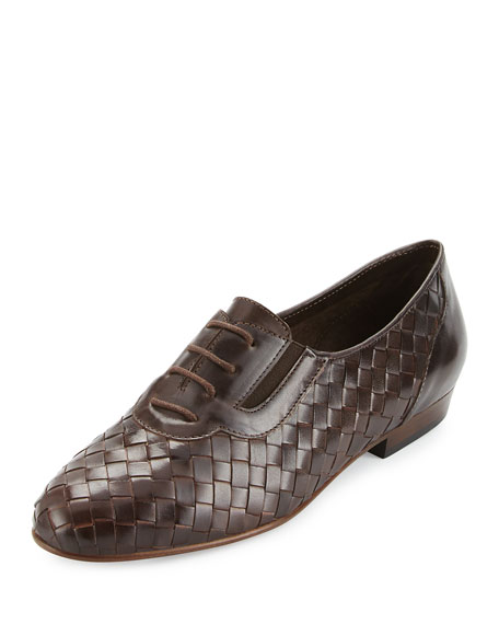 Sesto Meucci Nadir Woven Leather Oxford, Moro Brown