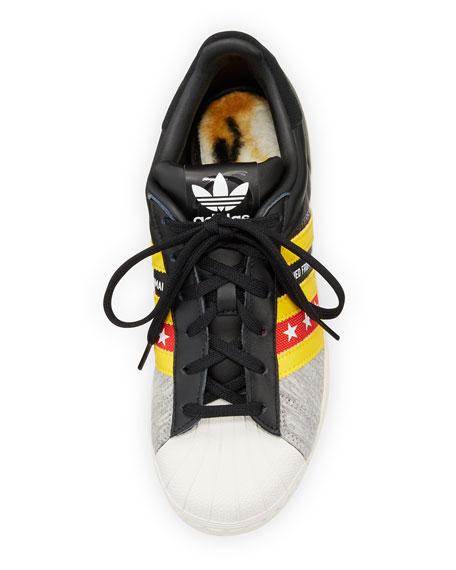 Superstar Original Rita Ora Sneaker, Core Black/Yellow/Off White