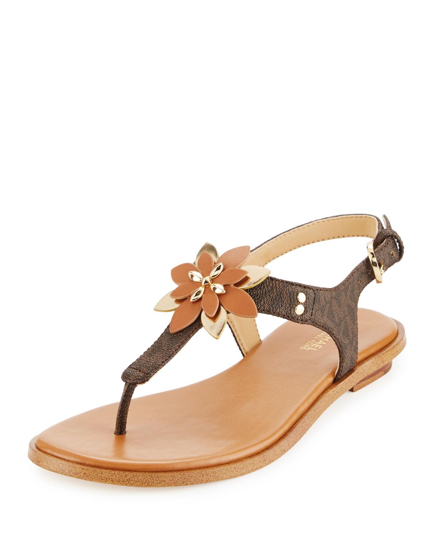 4548cfbd7ff9 MICHAEL Michael Kors Heidi Floral Flat Thong Sandal