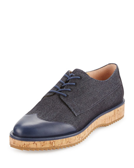 MICHAEL Michael Kors Zane Denim Lace-Up Oxford, Dark