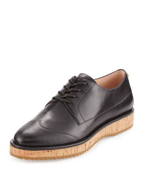 MICHAEL Michael Kors Zane Leather Lace-Up Oxford, Black