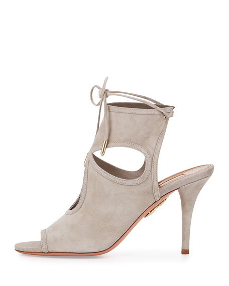 Sexy Thing Suede 85mm Sandal, Light Gray