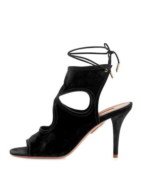 Sexy Thing Suede 85mm Sandal, Black