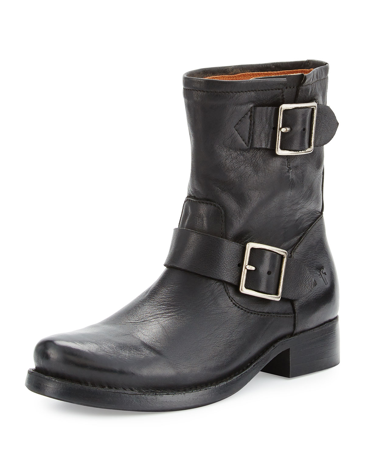 c78ae134f3d Vicky Engineer Leather Bootie, Black