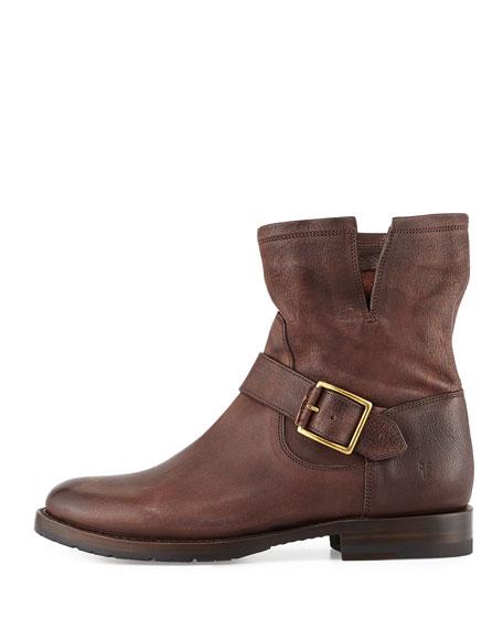 a784784613fb Frye Natalie Short Engineer Boot, Dark Brown   Neiman Marcus