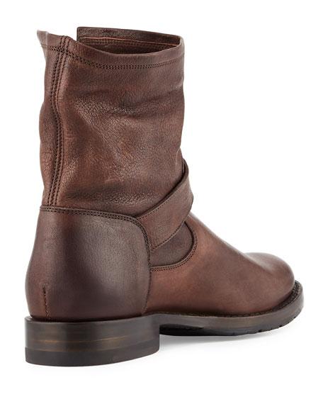 Natalie Short Engineer Boot, Dark Brown