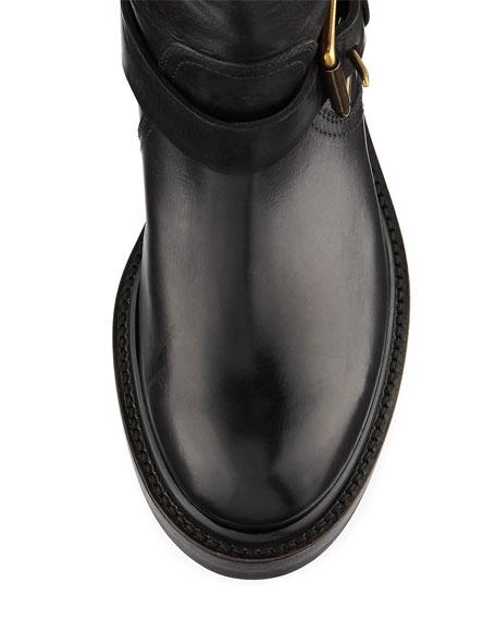 Alice Engineer Leather Boot, Black