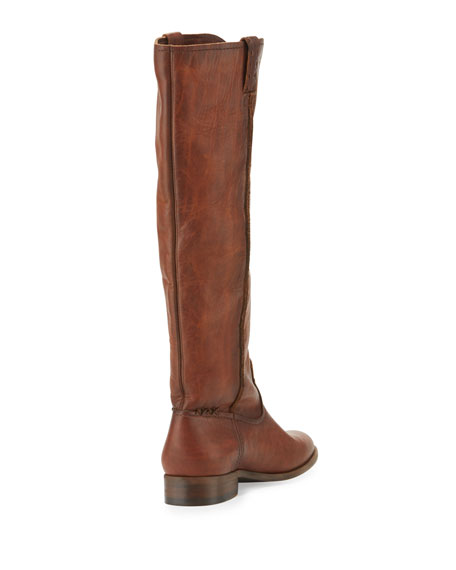 Cara Leather Knee Boot, Cognac