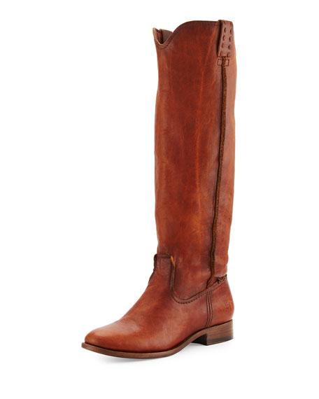 Frye Cara Leather Knee Boot Cognac Neiman Marcus