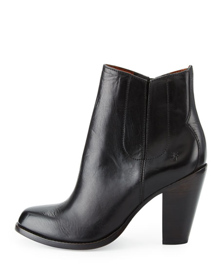 Jenny Jet Leather Chelsea Boot, Black