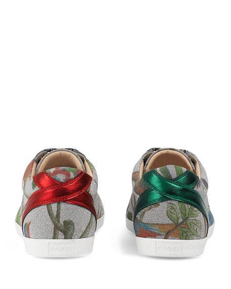 Bambi Tian Low-Top Sneaker, Silver
