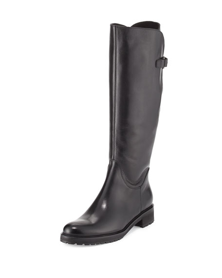 Sesto Meucci Wildee Adjustable Leather Knee Boot, Black