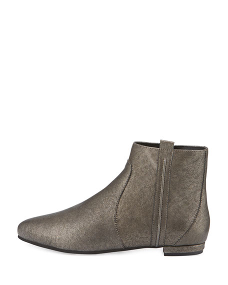 Wiley Leather Ankle Boot, Pewter