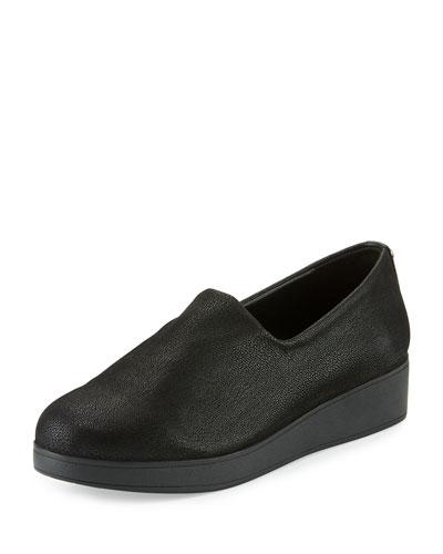 Vilaa Nubuck Slip-On Flat, Black