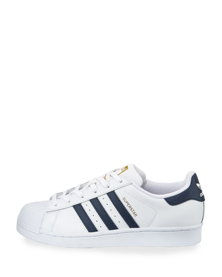 Superstar Original Fashion Sneaker, White/Navy