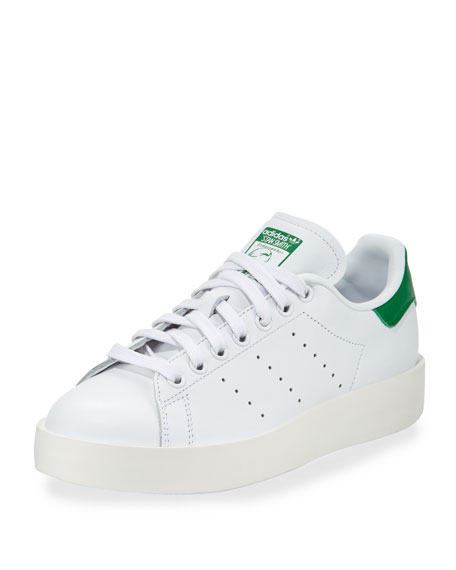 Adidas Stan Smith Bold Fashion Sneaker, White/Green