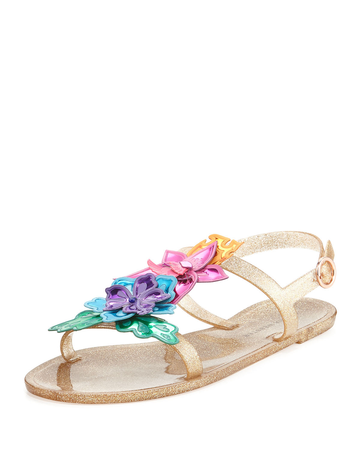 c33c558ac99 Sophia Webster Hula 3D Floral Jelly Flat Sandals