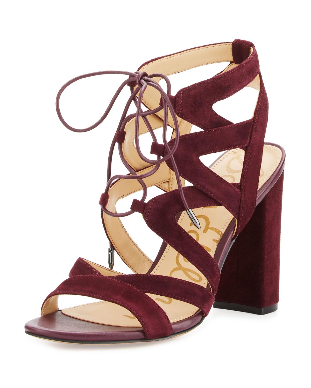 04df6581518 Sam Edelman Yardley Suede Lace-Up Sandal