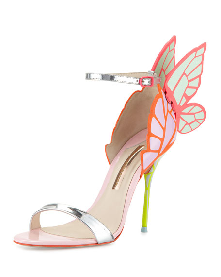 Sophia Webster Chiara Butterfly Wing Ankle-Wrap Sandal,