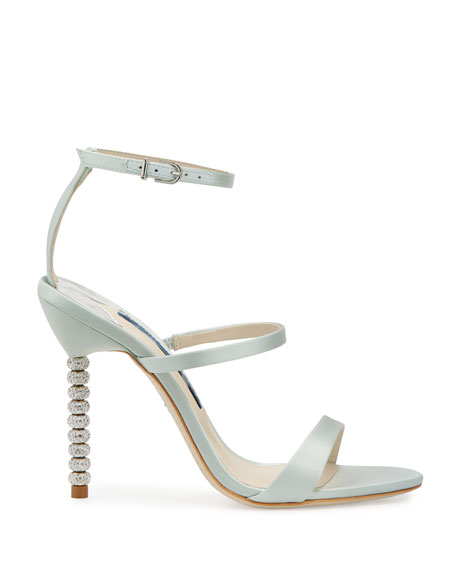Rosalind Strappy Bridal Sandals, Ice Blue