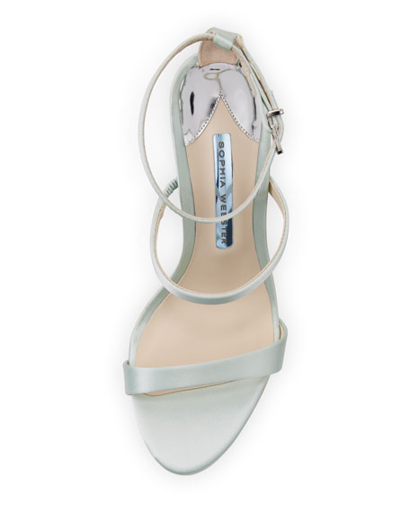 Rosalind Strappy Bridal Sandal, Ice Blue