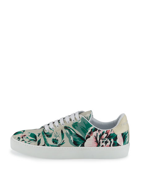 Westford Floral Low-Top Sneaker, Emerald Green