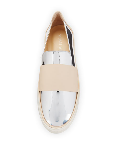 Boyband Specchio Slip-On Sneaker, Silver