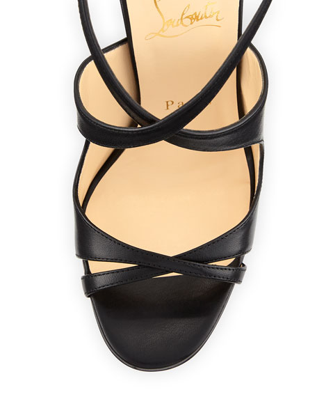online retailer 1ee8b be04a Malefissima Crisscross 100mm Red Sole Sandal