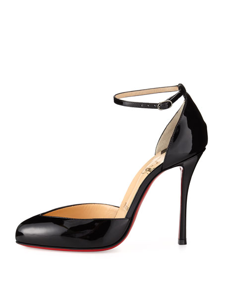 526230b5bf73 Christian Louboutin Dollyla Patent 100mm Red Sole Pump