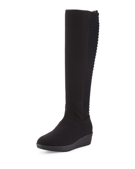 Sesto Meucci Nadie Weatherproof Wedge Knee Boot, Black