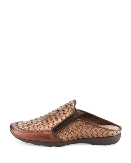 Galaxy Woven Comfort Mule, Brown