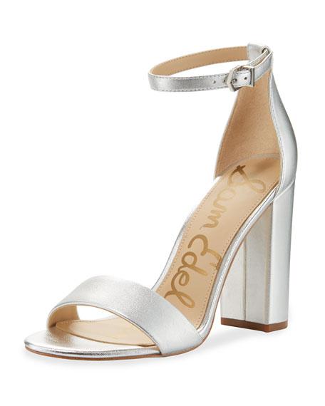 Iridescent Block Heel Shoes